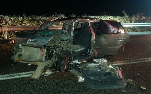 הרוג ושלושה פצועים בינוני בתאונה קשה הלילה סמוך לצפת