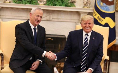 """אחרי פגישת נתניהו: הנשיא טראמפ ויו""""ר כחול לבן בני גנץ נפגשו"""