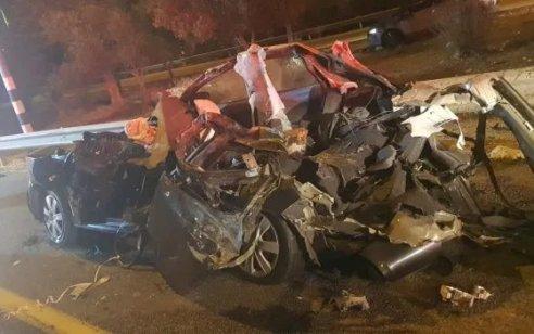 גבר כבן 39 נפצע בינוני בתאונה בין משאית לרכב בכביש 310 סמוך לגבעות בר
