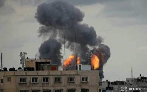 """אחרי הירי לעוטף: צה""""ל תקף מחסן אמל""""ח ותשתית תת קרקעי של הג'יהאד האיסלמי"""