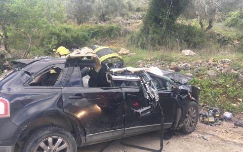 גבר כבן 55 נהרג בתאונה בין משאית לרכב פרטי בכביש 505