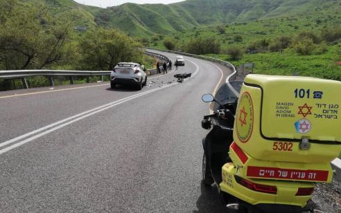 רוכב אופנוע בן 49 נהרג מפגיעת רכב סמוך לכינרת