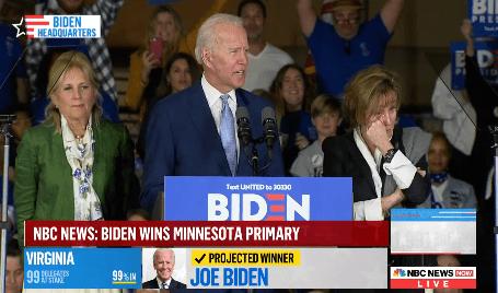 """הבחירות למפלגה הדמוקרטית בארה""""ב: ביידן ניצח בלפחות שמונה מדינות, סנדרס לקח את קליפורניה"""