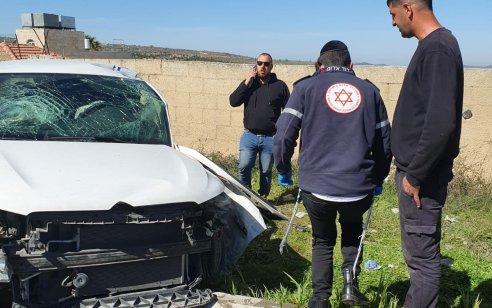 פצוע בינוני ושניים קל בתאונה סמוך למחסום המנהרות
