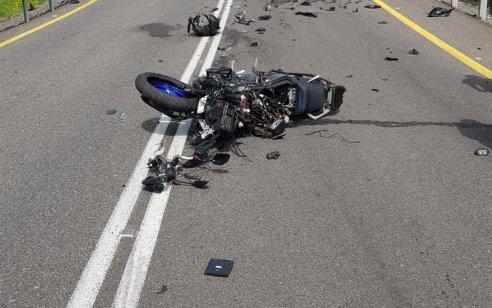 רוכב אופנוע כבן 20 נפצע קשה בכניסה ליסוד המעלה