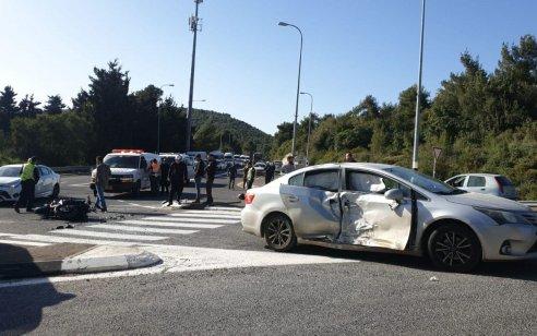 רוכב אופנוע נפצע בינוני ואדם נוסף קל בתאונה בכביש 89 סמוך להר מירון