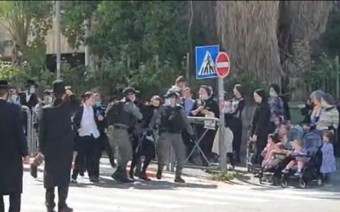 """מאה שערים: חמישה עצורים בהפגנת ילדי ה׳חלאקה׳ במחאה על איסור העלייה למירון בל""""ג בעומר"""