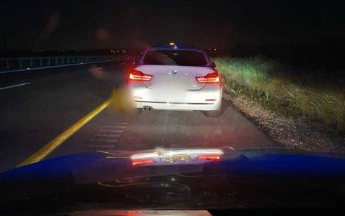"""בן 25 נתפס נוהג במהירות 189 קמ""""ש בכביש 6"""