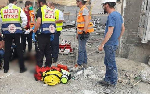 פועל בן 47 נפל מקומה 8 בגבעת שמואל – ונהרג