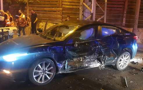 שני פצועים בינוני וקל בתאונה בין שני כלי רכב ברמת גן