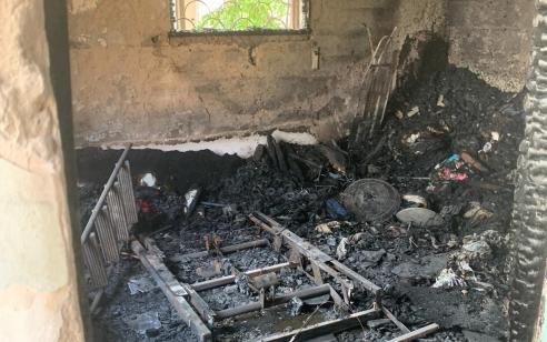 חמישה נפגעים כתוצאה משריפה במבנה מגורים בחיפה