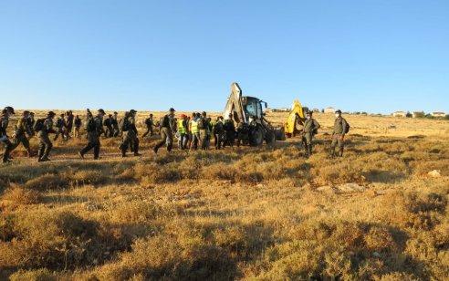 כוחות גדולים הרסו בתי מתיישבים באזור כוכב השחר – לפחות 13 תושבים נעצרו