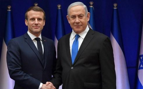 """נתניהו שוחח אתמול עם נשיא צרפת עמנואל מקרון: """"נוסחאות העבר הובילו לכשלון"""""""