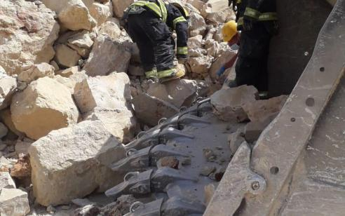 פועל בן 72 נמחץ למוות במחצבה סמוך לבית שמש