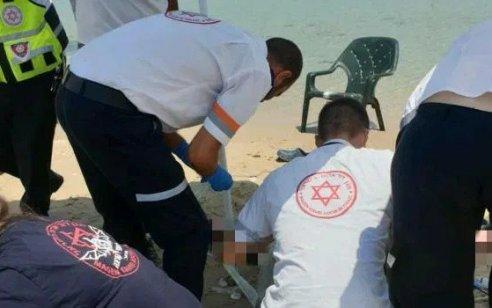 גבר כבן 30 טבע למוות בחוף החותרים שבכרמל