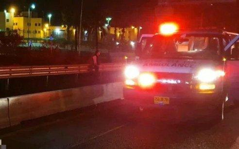 הולך רגל כבן 50 נהרג מפגיעת רכב בכביש 4 סמוך לצומת שומרת בגליל המערבי