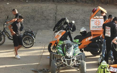 רוכב טרקטורון נפצע בינוני בתאונה עצמית באור יהודה