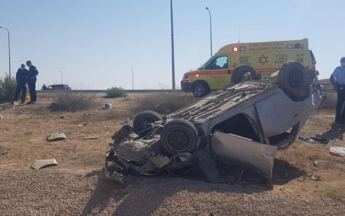 שני הרוגים ושני פצועים בינוני בהתהפכות רכב בכביש 6 סמוך לצומת שוקת