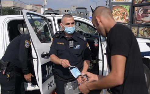 המשטרה: 1,547 דו״חות ניתנו ביממה האחרונה בגין הפרות תקנות הקורונה – 28 מתוכם בגין הפרת בידוד