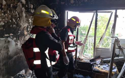 אשקלון: גבר כבן 60 נהרג כתוצאה משריפה בדירה