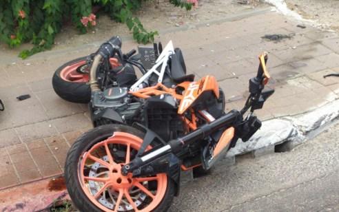 רוכב אופנוע כבן 30 נפצע קשה בתאונה בכביש 44 סמוך לאזור
