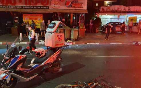 רוכב אופנוע בן 26 נפצע קשה בתאונת דרכים ברמת גן