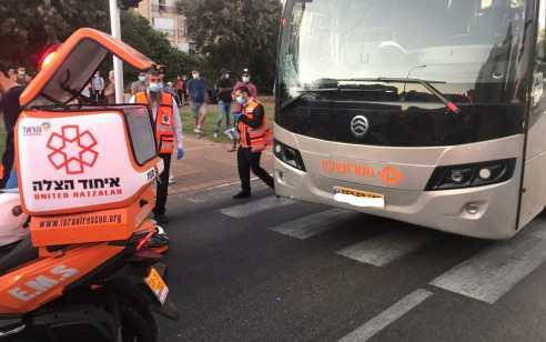 גבר בן 84 נהרג מפגיעת אוטובוס במעבר חציה בנתניה