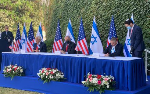 """רה""""מ ושגריר ארה""""ב בישראל בחתימת הסכם שיתוף פעולה מדעי"""