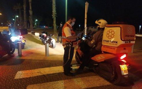 רוכב אופנוע בן 41 נפצע קשה בתאונה בנתניה