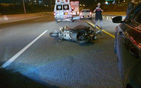 רוכב אופנוע נהרג בתאונה בכביש 471