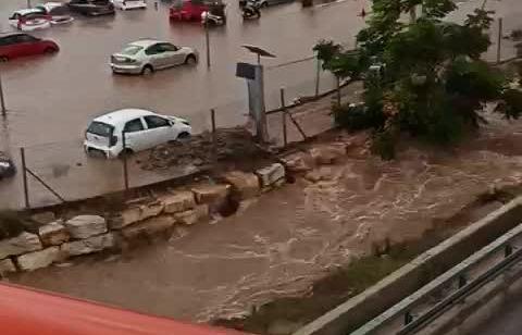 בעקבות הגשמים: תחנת רכבת הרצליה נסגרה זמנית