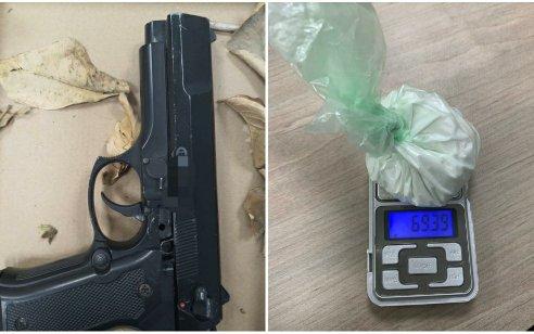 שני תושבי כפר יאסיףנעצרו בחשד שהחזיקו באקדח וחומר החשוד כסם מסוכן מסוג קריסטל