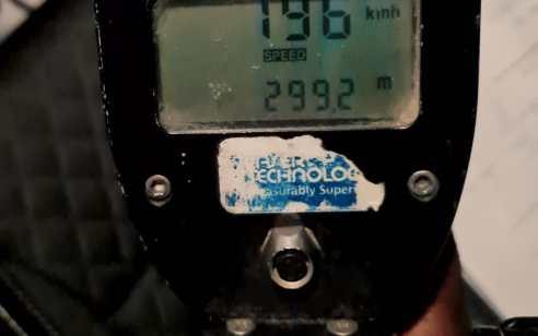 """רוכב אופנוע תושב באר שבע נתפס במהירות חריגה של 196 קמ""""ש"""