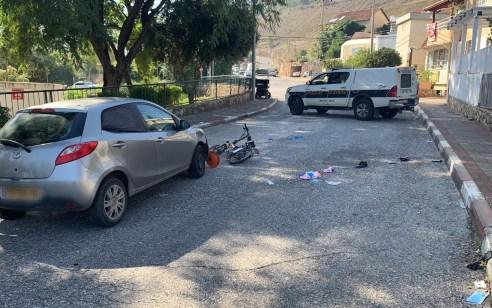 רוכב אופניים חשמליים בן 67 נפצע קשה בתאונה בקרית שמונה