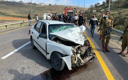 גבר כבן 30 נהרג ואדם נוסף נפצע בינוני בתאונה חזיתית סמוך לעפרה 