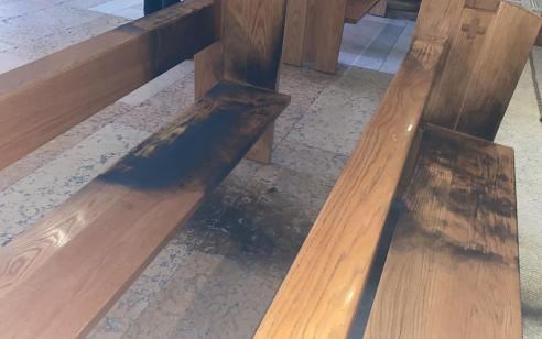 תושב ירושלים נעצר בחשד שניסה להצית את כנסיית גת שמנים בעיר