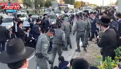 מחאת הפלג הירושלמי: כביש 4 נחסם לתנועה – 13 מפגינים נעצרו | תיעוד קשה