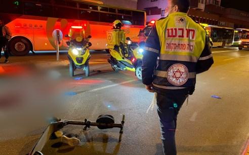 רוכב קורקינט חשמלי נהרג בתאונה בפתח תקווה