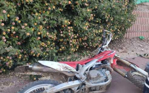 שני קטינים נתפסו לאחר שניסו להימלט מהמשטרה עם אופנוע גנוב סמוך לעזריקם
