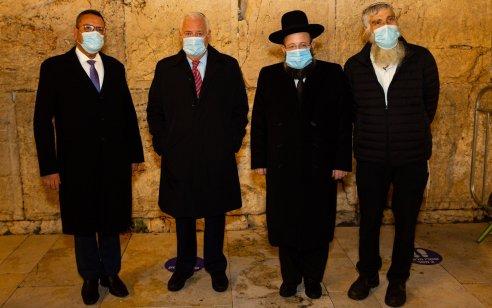 """שגריר ארה""""ב בישראל מר דיויד פרידמן מסיים את כהונתו הערב ברחבת הכותל המערבי"""