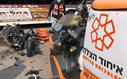 רוכב אופנוע בן 21 נהרג בתאונה עם מעורבות משאית באשדוד
