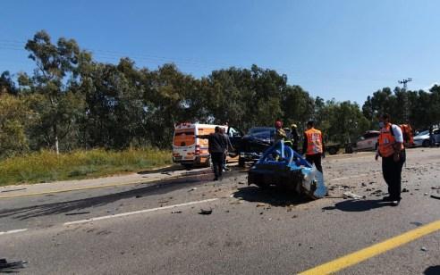 שני פצועים במצב קשה ובינוני בתאונה בכביש 232 סמוך לברור חיל