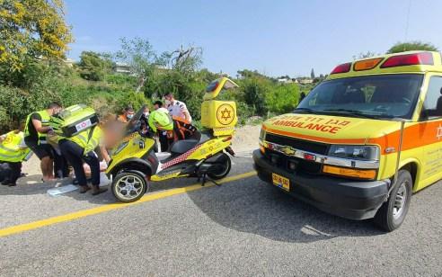 רוכב אופניים בן 38 נפצע קשה מפגיעת אוטובוס בראש הנקרה