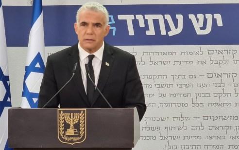 """לפיד על הניסיונות להקים ממשלה: """"למיליוני ישראלים נמאס לריב – חייבים ממשלת אחדות ישראלית"""""""