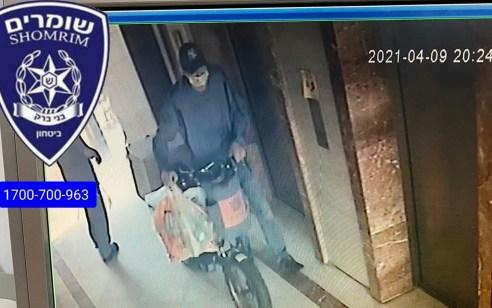 """ראיתם אותו? מתנדב מד""""א ביצע החייאה בבני ברק – גנב נמלט עם האופניים ששימשו אותו"""