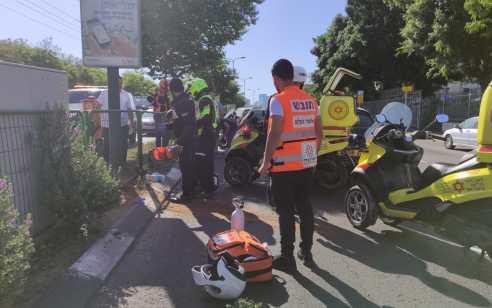 הולכת רגל כבת 70 נפצעה בתאונה בתל אביב – מצבה קשה