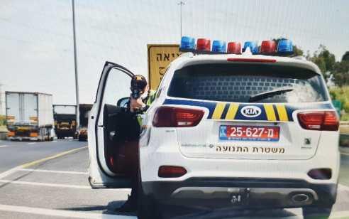 כביש 6: נהג נתפס שלא הוציא רישיון נהיגה מעולם ונהג בשכרות במהירות מופרזת