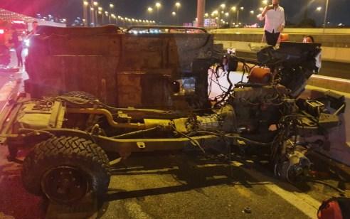 נהג רכב בן 35 נפצע בינוני בתאונה עצמית בכביש 431