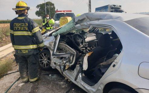 צעיר בן 27 נפצע בינוני עד קשה בתאונה סמוך לקרית אתא
