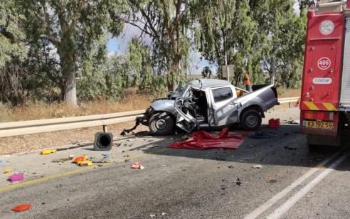 גבר כבן 30 נפצע קשה בתאונה בין משאית לרכב בכביש 65 מאילניה לבית קשת